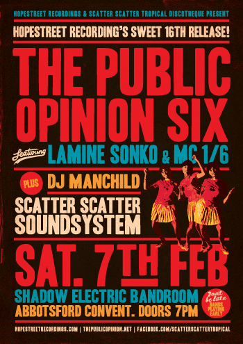 Hope Street Recordings present The Public Opinion Six