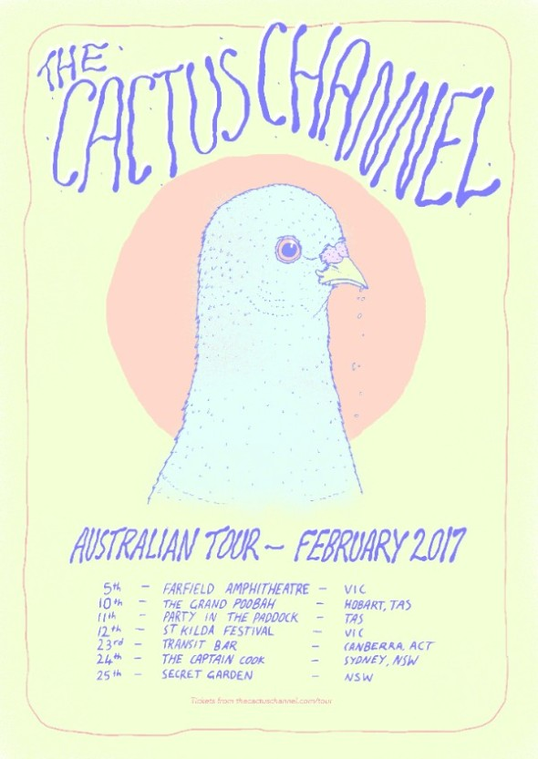 Cactus Channel - Australian Tour Feb 2017 - Poster